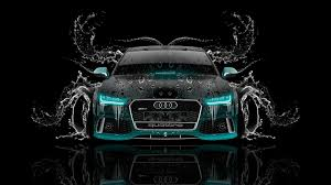 audi wallpaper black. tony kokhan audi rs7 front water car azure neon black el cars photoshop hd wallpapers wallpaper