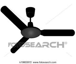 ceiling fan on a white background
