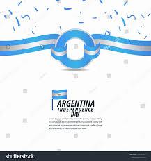 Argentina Banner Design Happy Argentina Independence Day Celebration Poster Stock