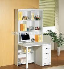 melamine laminated wooden computer desk bookshelf with low
