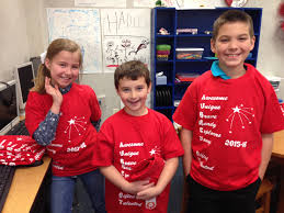 gifted and talented programs three aubrey isd students dressed in red