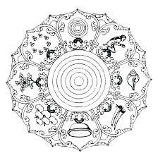 Complex Mandala Coloring Pages Mandala Coloring Pages Free Snowflake