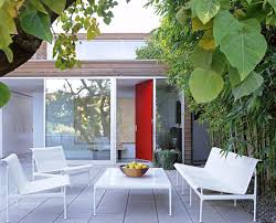 tropical design furniture. Los Angeles Retro Patio Furniture With Wooden Accent And Storage Benches Modern Outdoor Space Container Plants Wood Siding For Tropical Design