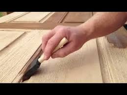 refinishing a fiberglass entry door