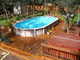 licious above ground pool ideas on
