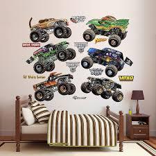 monster jam trucks collection wall