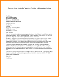 6 Teaching Cover Letters Samples Offecial Letter