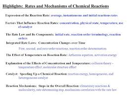 highlights rateechanisms of chemical reactions