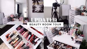 updated beauty room tour makeup collection 2018