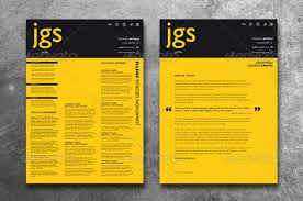 Modern Typographic Resume Set 45 Cv Resume Templates That Will Get You Hired Pixel Curse