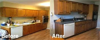 refaced kitchen cabinets the family kitchen after cabinet refacing in diy kitchen cabinet refacing before and