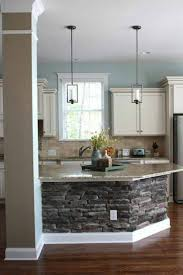 Kitchen Designs With Island From Stone. Like The Pillar, The Stone Work And  The