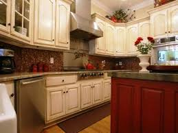 brown polished mahogany cabinetry white granite countertops designs kitchen cabinet stains high gloss finish cherry wood