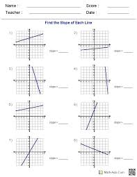 graphing systems of equations worksheet plus generate endless worksheets on slope various forms of linear equations