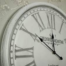 large round grey wall clock