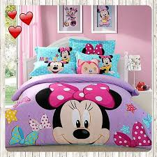minnie mouse bedding set cartoon bedclothes covers 3 4 pcs twin full queen size 1 of 12 minnie mouse bedding