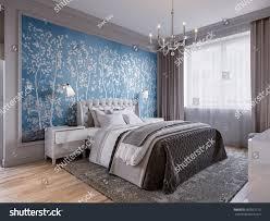 Modern Bedroom Interior Design Classic Elements Stock Illustration ...