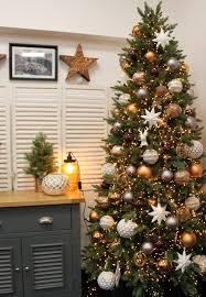 Grey Christmas Tree Copper Grey Brown And White Christmas Tree Design Idea Deko