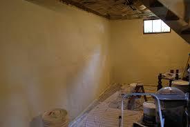 image of painting unfinished bat walls dark