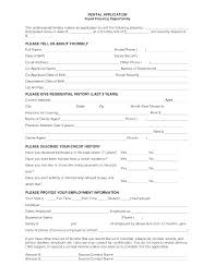 Blank Rental Application Free Rental Application Form Template Throughout Printable