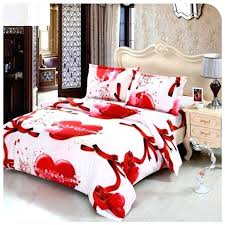 details about valentines day red white heart cotton duvet cover comforter bedding set sets king size