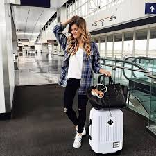 Cute winter women airport outfits ideas Ootd 70 Summer Airplane Outfits Travel Style Ideas Need To Try Httpsfasbest Pinterest Pin By Hlj Girl Store On Dress In The Latest Fashion Styles Summer