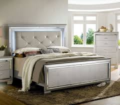 ... Bellanova Panel Bed (Silver) (Queen) ...