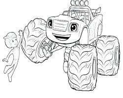 Blaze And The Monster Machines Coloring Pages Blaze And The Monster