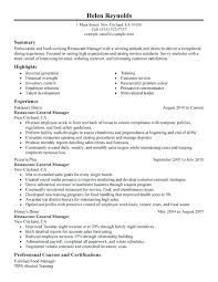 General Manager Sample Resume Resume Example Collection