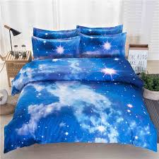 blue stars bedding sets in four pieces light blue bedding