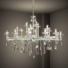image of modern contemporary chandelier dining room