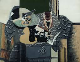 georges braque still life with glass 1930 oil on canvas