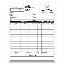 Invoice Papers Trucking Company Forms And Envelopes Custom Printing