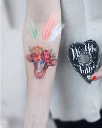 At Missnikatattoo 𝓜𝓼 𝓝𝓲𝓴𝓪 Adorable Watercolor Cow