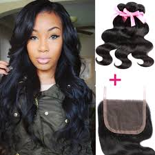 Body Hair Style peruvian body wave 44 1pc lace closure with 3 bundles human 3275 by stevesalt.us