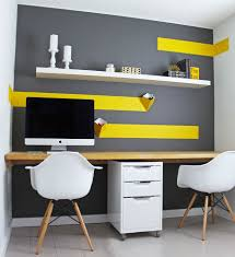 gallery home office shelving. Gallery Budget Home Office Design With White IKEA Floating Shelf [Design: K\u0026L Interiors] Shelving