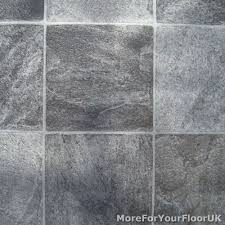 Kitchen Floor Lino Grey Stone Tile Vinyl Flooring Kitchen Bathroom Lino Ebay