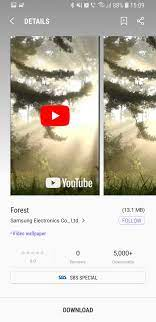 Samsung Galaxy S8 Plus Video Wallpaper