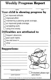 Printable Progress Reports For Elementary Students Best Photos Of Elementary Student Progress Report Template