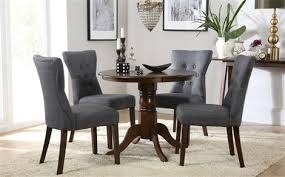 dark wood dining room furniture. kingston round dark wood dining table with 4 bewley slate chairs room furniture h