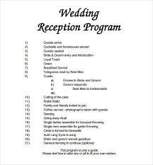 Wedding Reception Templates Free 67 Wedding Program Template Free Word Pdf Psd Documents