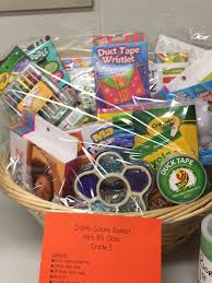 any kid with a crafty bone in their body is sure to love a collection of markers jewelry making kits and bead crafts this basket was