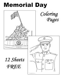 Small Picture Memorial Day Patriotic coloring pages for kids