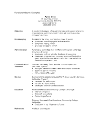 Functional Format Resume Example Resume Samples