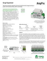 Transient Protection Design Amppro Av Iq Manualzz Com