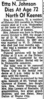 Etta (Dalton) Johnson obituary. - Newspapers.com