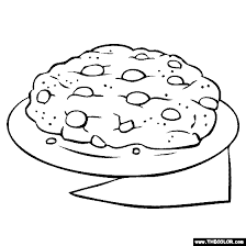 Small Picture Chocolate Chip Cookie Coloring Page