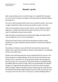 homeless speech gcse english marked by teachers com page 1 zoom in