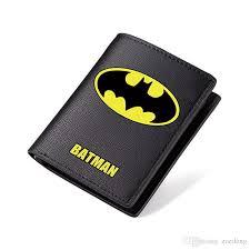 batman wallet black pu short purse students carteira bilfold long purse with coin zip pocket superman the flash wallet branded wallets for men pink wallet