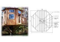 10 Square Treehouse Plan Treehouse Hardware and Tree houses